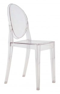 Victoria Ghost Transparent stacking chair Kartell Philippe Starck 1
