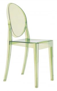 Victoria Ghost Green Kartell Philippe Starck 1 stackable chair