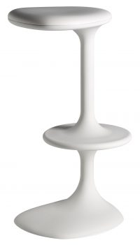Kant White High Stool Casamania Karim Rashid