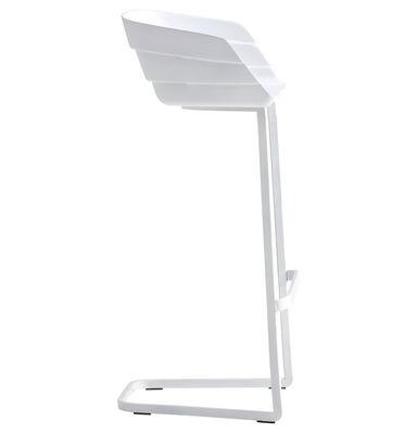 Υψηλή σκαμνί Rift Η 77 cm Λευκό Moroso Patricia Urquiola 1