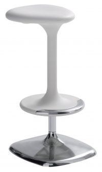 Kant White High Adjustable Stool Casamania Karim Rashid