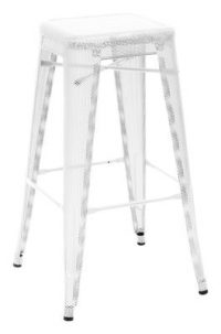 High stool H - H cm White Tolix Chantal Andriot 75 1