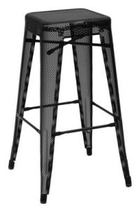 High stool H - H 75 cm Black Tolix Chantal Andriot 1