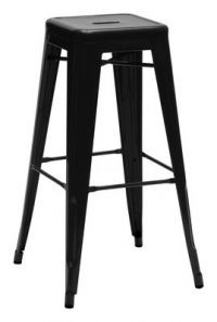 High stool H - H 75 cm Black Tolix Xavier Pauchard 1