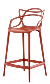 Masters high stool - H 65 cm Rust orange Kartell Philippe Starck | Eugeni Quitllet 1