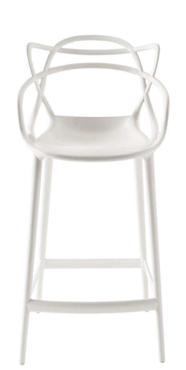 Sgabello alto Masters - H 65 cm Bianco Kartell Philippe Starck|Eugeni Quitllet 1