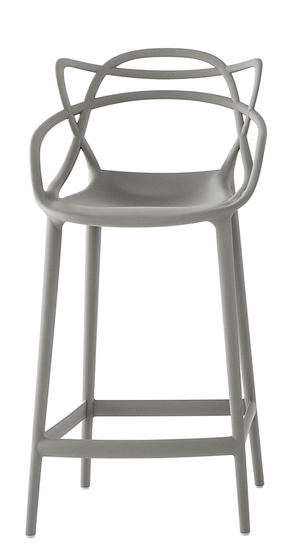 Masters high stool - H 65 cm Kartell γκρι Philippe Starck | Eugeni Quitllet 1