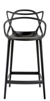 Taburete alto Masters - H 65 cm Negro Kartell Philippe Starck | Eugeni Quitllet 1