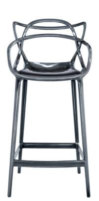 Masters high stool - H 65 cm Titanium Kartell Philippe Starck | Eugeni Quitllet 1