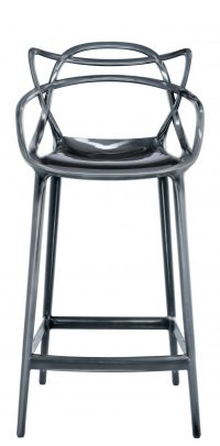 Sgabello alto Masters - H 65 cm Titanio Kartell Philippe Starck|Eugeni Quitllet 1
