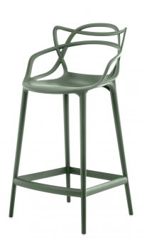 Masters high stool - H 65 cm Sage πράσινο Kartell Philippe Starck | Eugeni Quitllet 1