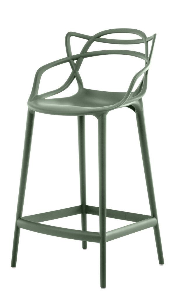 Banco alto master - A 65 cm Verde prudente Kartell Philippe Starck | Eugeni Quitllet 1