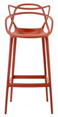 Masters high stool - H 75 cm Rust orange Kartell Philippe Starck | Eugeni Quitllet 1