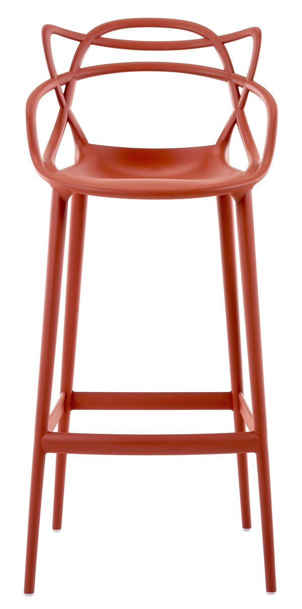 Masters high stool - H 75 cm Rust orange Kartell Philippe Starck | Eugeni Quitllet 1