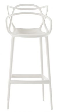 Masters high stool - H 75 cm Λευκό Kartell Philippe Starck | Eugeni Quitllet 1