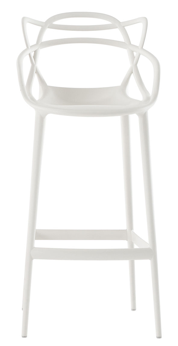 Sgabello alto Masters - H 75 cm Bianco Kartell Philippe Starck|Eugeni Quitllet 1
