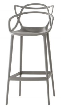 Masters high stool - H 75 cm Kartell γκρι Philippe Starck | Eugeni Quitllet 1
