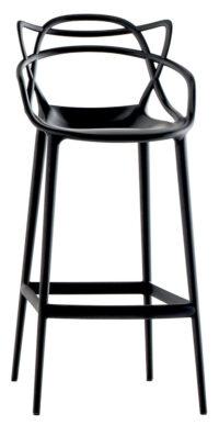 Taburete alto Masters - H 75 cm Negro Kartell Philippe Starck | Eugeni Quitllet 1