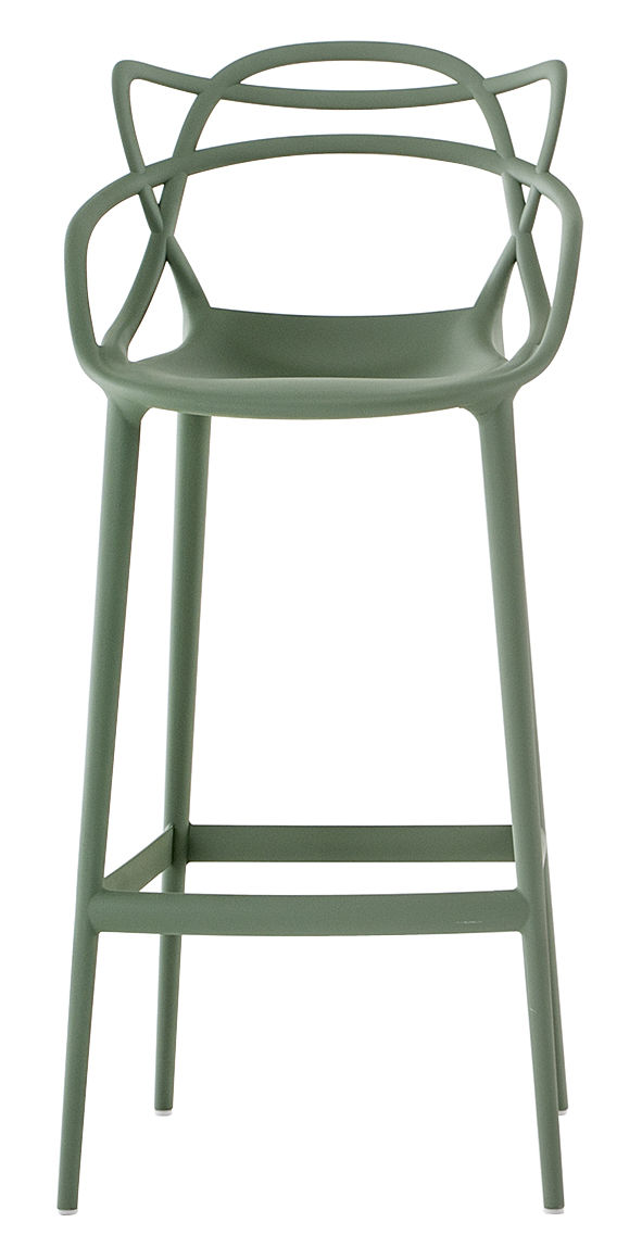 Masters high stool - H 75 cm Sage πράσινο Kartell Philippe Starck | Eugeni Quitllet 1