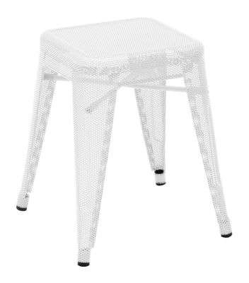 Low stool H - H 45 cm White Tolix Chantal Andriot 1