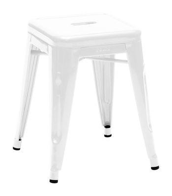 Low stool H - H 45 cm White Tolix Xavier Pauchard 1