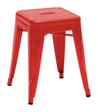 Low stool H - H 45 cm Red Tolix Xavier Pauchard 1