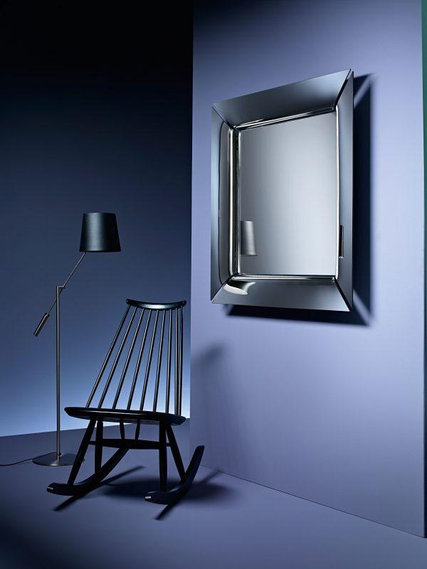 Caadre mirror - 105 x 105 cm Silver FIAM Philippe Starck