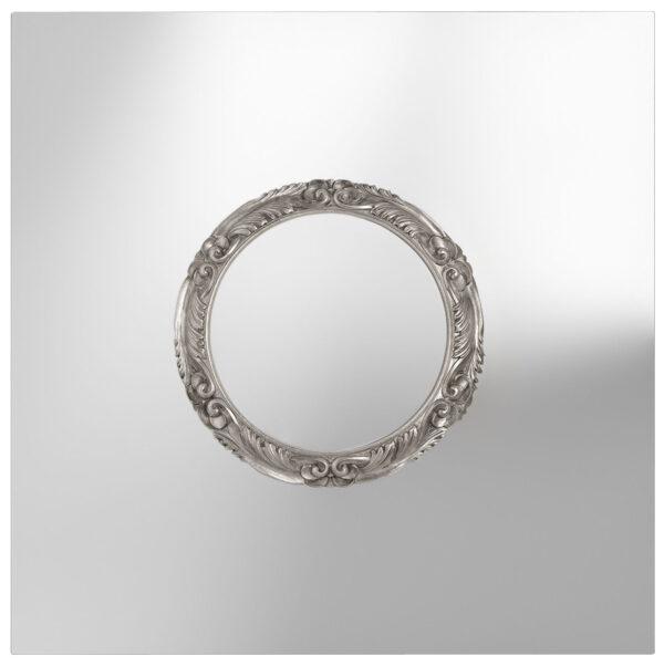Silver Portrait Mirror FIAM Laudani & Romanelli