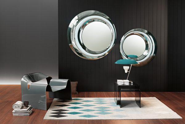 Rosy Mirror - Silver 100 cm Silver FIAM Massimiliano & Doriana Fuksas
