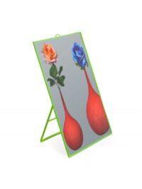 Specchio Toiletpaper - Flowers - Large H 40 cm Verde Seletti Maurizio Cattelan|Pierpaolo Ferrari