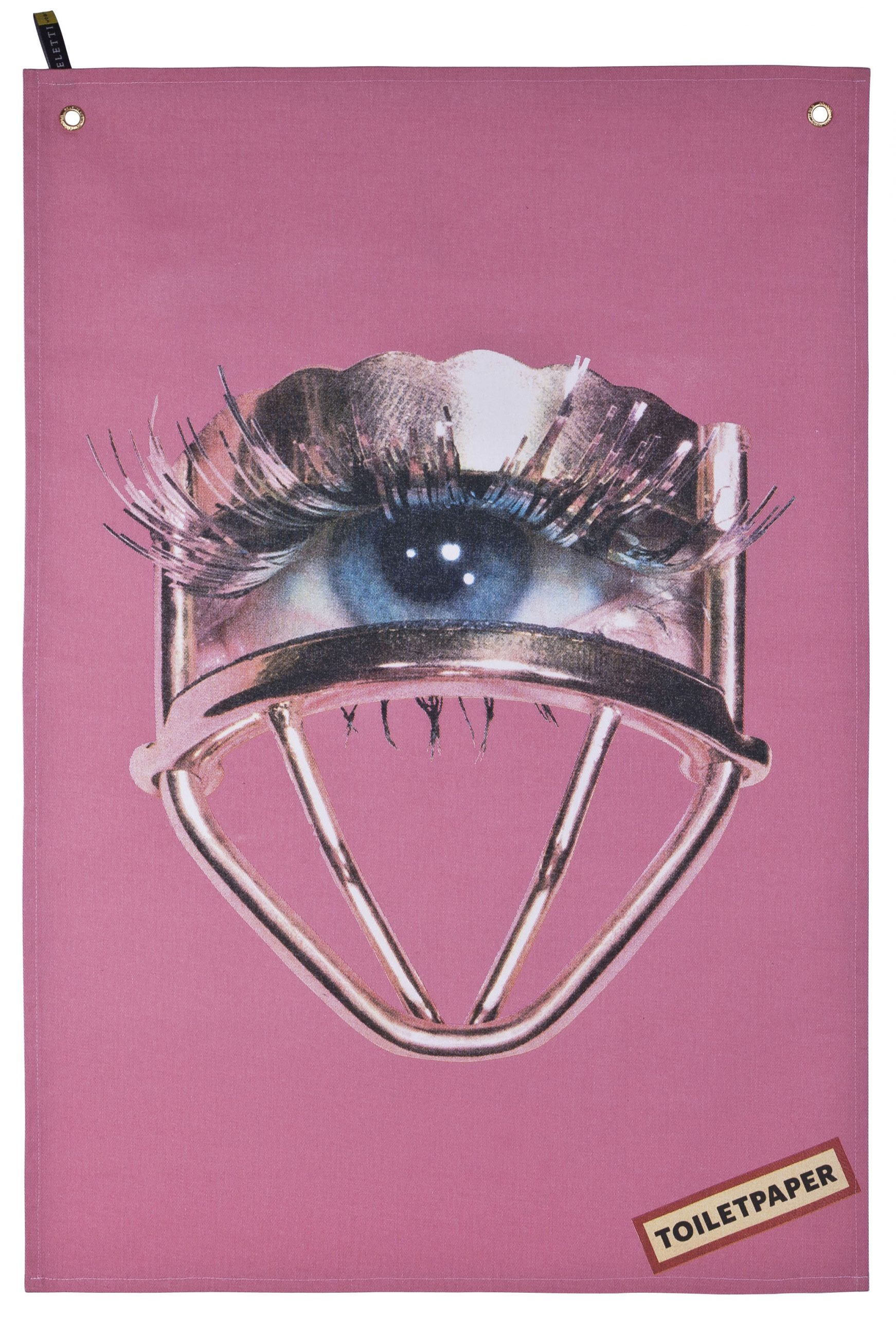 Plat de papier de toilette - Oeil multicolore | Rosa Seletti Maurizio Cattelan | Pierpaolo Ferrari