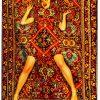 トイレットペーパーカーペット - カーペットの上の女性 -  194 x 280 cm色とりどりのSeletti Maurizio Cattelan | Pierpaolo Ferrari
