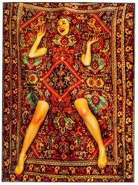 Toiletpaper Carpet - Lady on Carpet - 194 x 280 cm Multicolored Seletti Maurizio Cattelan | Pierpaolo Ferrari