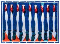 トイレットペーパーカーペット - 足 -  194 x 280 cm色とりどりのSeletti Maurizio Cattelan | Pierpaolo Ferrari