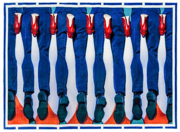 Toiletpaper Carpet - Legs - 194 x 280 cm Multicolored Seletti Maurizio Cattelan | Pierpaolo Ferrari