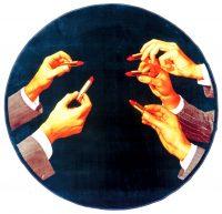 Tappeto Toiletpaper - Lipsticks - Ø 194 cm - Spessore: 7 mm - Densità: 1,40 kg / m2 Multicolore Seletti Maurizio Cattelan|Pierpaolo Ferrari