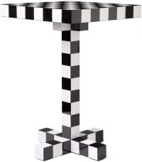 Chess Table White | Black moooi Front 1