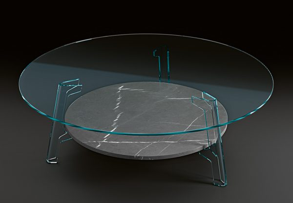Table Basse Flûte Grise | FIAM Transparent Lucidi Pevere Studio