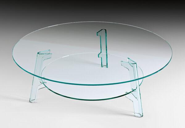 Mesa de café de flauta transparente FIAM Lucidi Pevere Studio