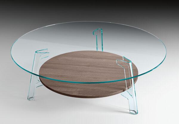 Mesa de Café de Flauta Transparente | Oak FIAM Lucidi Pevere Studio