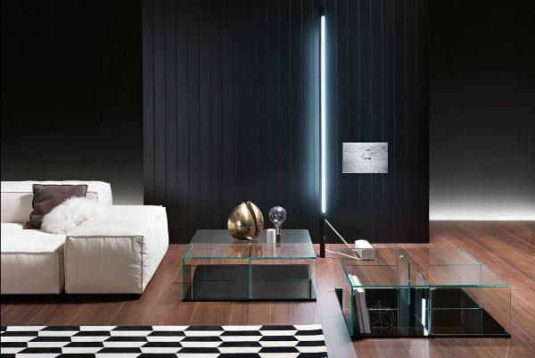 Quadra Mesa De Café Transparente | Espelho FIAM Matteo Nunziati