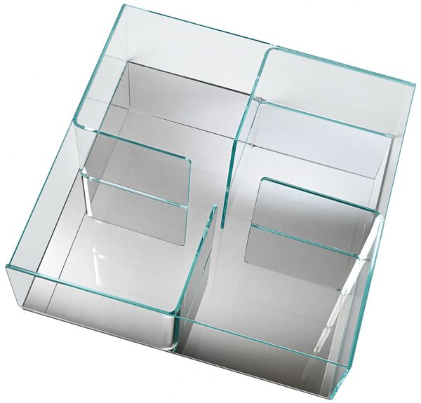 Quadra Transparent Coffee Table | Mirror FIAM Matteo Nunziati