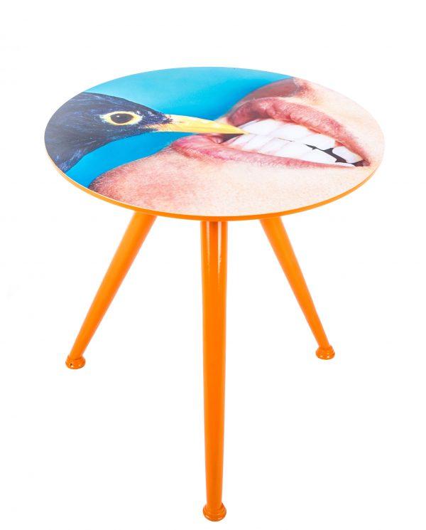 Tavolino Toiletpaper - Crow Ø 48 x H 49 cm Multicolore Seletti Maurizio Cattelan|Pierpaolo Ferrari