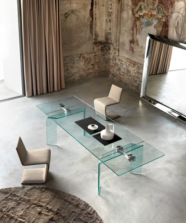 Ray Plus Steel Table | Transparan FIAM Bartoli Design