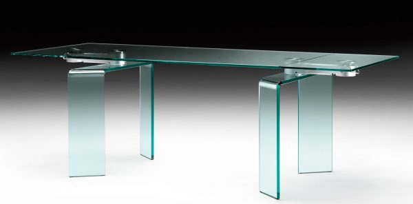 Ray Plus Steel Table | Transparent FIAM Bartoli Design