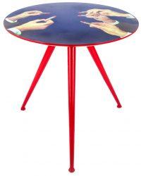 Table basse de papier toilette - Rouges à lèvres Ø 70 x H 64 cm Multicolore Seletti Maurizio Cattelan | Pierpaolo Ferrari