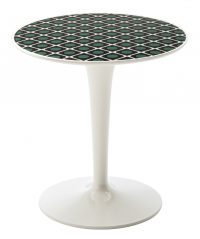Mesa auxiliar Tip Top La Double J - Blanco | Olive Kartell Philippe Starck | Eugeni Quitllet 1