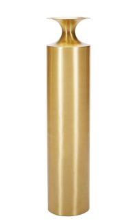 Gefäß Tall Beat Vase Ø 25 x H 109 cm Messing Tom Dixon Tom Dixon