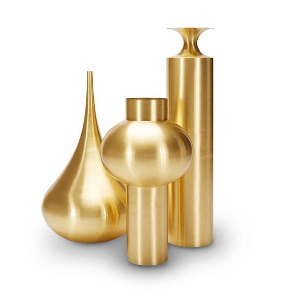Gefäß Beat Vase Top 44 x H 75 cm Messing Tom Dixon Tom Dixon