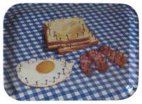 トイレットペーパートレイ - 朝食 -  43 x 32 cm多色|白|青Seletti Maurizio Cattelan | Pierpaolo Ferrari